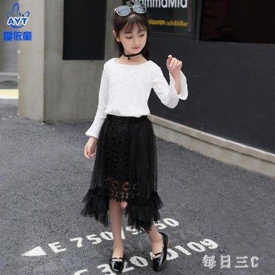 女童兩件套裙款洋氣時髦韓版潮衣服夏裝兒童長袖套裝 zm7993