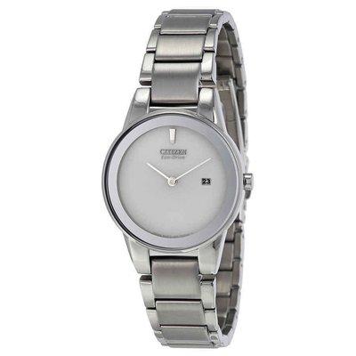 【換日線】女錶 Citizen Axiom Silver Dial Stainless Steel Ladies Watch GA1050-51A