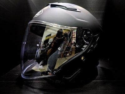 《鼎鴻》SHOEI半罩式素色安全帽 J-CRUISE II  消光黑(內建式墨片)