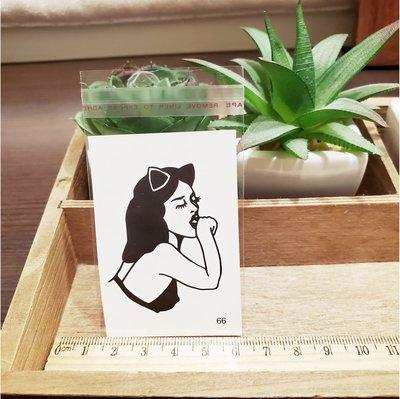 【萌古屋】百態人生66單圖 - 男女防水紋身貼紙刺青貼紙 K43