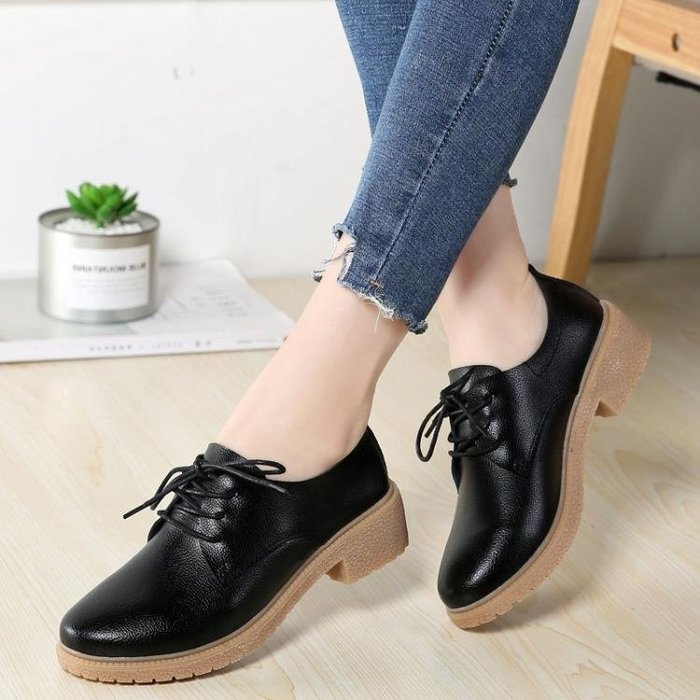 小皮鞋女英倫風女鞋子牛津鞋女學院風單鞋女平底復古軟妹小皮鞋女