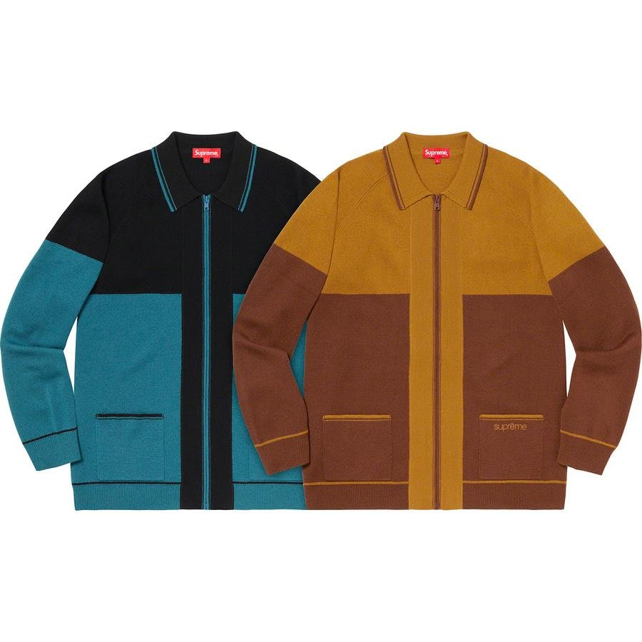 【紐約范特西】預購 Supreme FW19 Color Blocked Zip Up Sweater 毛衣外套