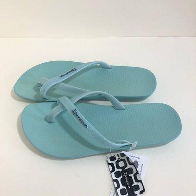 《現貨》Ipanema  女生 拖鞋 巴西尺寸33/34,35,36,37,38(舒適鞋底 純色交叉帶 平底拖鞋-粉綠色)