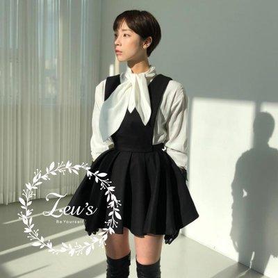 【ZEU'S】韓國休閒新款吊帶連身小黑裙『 02119810 』【現+預】B