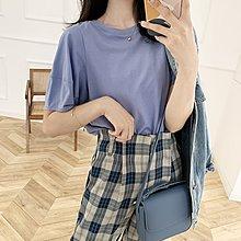 NANAS【A8032】簡單就很美~chic韓國小設計感純棉泡泡袖T恤 特價 預購