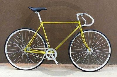 單速車 fixed gear 死飛復古系列 死飛自行車倒騎倒剎固齒場地車競速 古典電鍍金