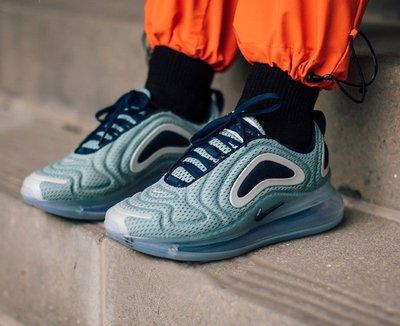 NIKE AIR MAX 720 太空 湖水綠 深藍白 幻彩 銀河 全氣墊 織帶 休閒 慢跑 女鞋 AR9293-001