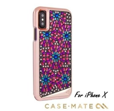 【貝殼】美國 Case-Mate iPhone X/Xs Brilliance 時尚水鑽雙層防摔手機保護殼 - 寶石胸針