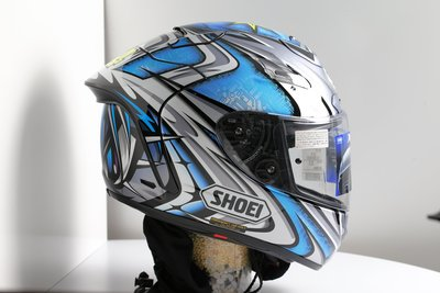 收藏 SHOEI X-12 X12 X-TWELVE DAIJIRO 加藤大治郎 TC-6 TC6 選手帽 彩繪帽 藍銀