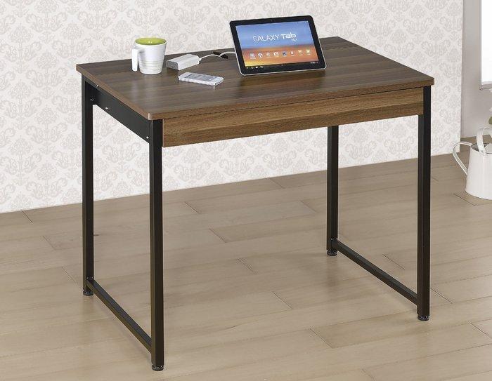 FA-383-4賈汀2.8尺胡桃兩用電腦桌/大台北區/衣櫃/系統家具/沙發/床墊/茶几/高低櫃/1元起/最低價/高品質