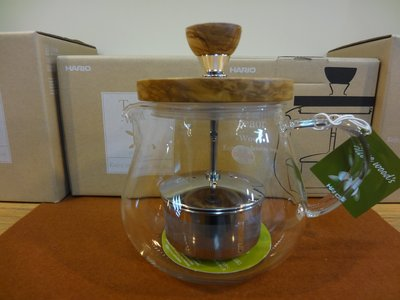 ==老棧咖啡== Hario teo-45-ov 450cc 橄欖木 沖茶器 花茶壺
