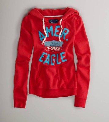 (嫻嫻屋)全新正品現貨American Eagle AE Slouchy Hoodie典雅可愛連帽帽T 亮眼 美國老鷹