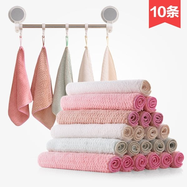 【TT】珊瑚絨洗碗布不掉毛加厚抹布10條裝家用廚房擦手巾吸水毛巾