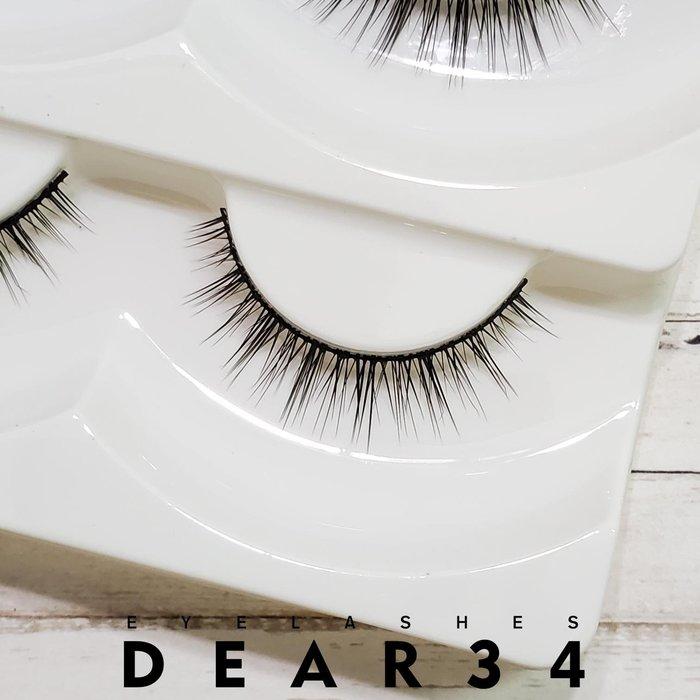 《Dear34》磨尖L-81黑梗眼中長束狀自然根根分明一盒五對價