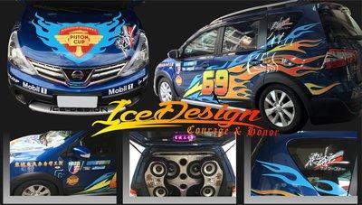 高雄市 ICE彩繪 汽車LIVINA livina 訂製設計貼紙
