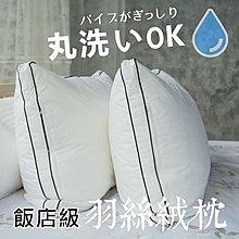 【現貨超取】3D立體雙車邊可水洗羽絲絨枕/純棉表布(附不織布收納袋)五星級飯店枕