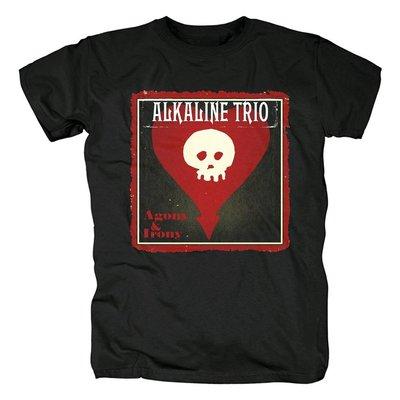 芝加哥Alkaline Trio樂隊專輯封面Agony & Irony搖滾流行音樂T恤