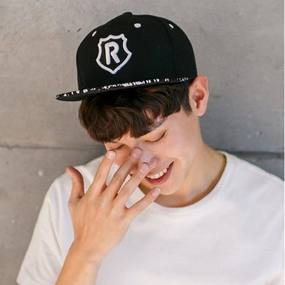 【PD帽饰】奔跑吧兄弟同款男女Angelababy楊穎同款R字母棒球帽running man