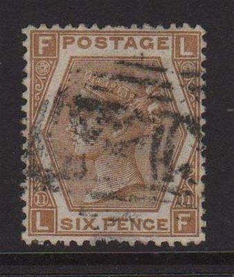 【雲品】英國Great Britain 1872 Victoria SG 123 PL11 FU #c218.2 庫號#65874