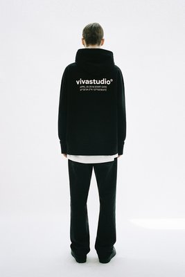 【Luxury】Vivastudio LOCATION HOODIE JA長袖帽TEE 兩色 黑灰 韓國代購