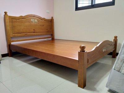 鴻宇傢俱~鄉村風全實木5尺雙人床台/ 床架 ~可改白色~另有3.5尺單人、6尺雙人加大可選購 桃園市