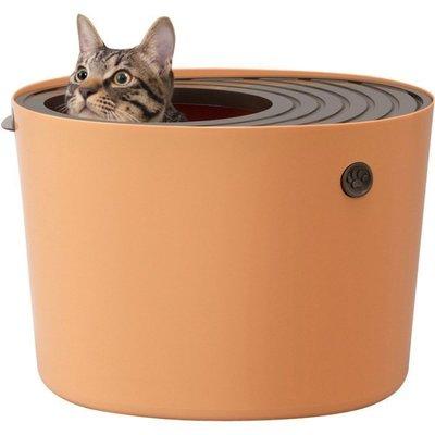 日本IRIS《立桶式貓便箱-小-PUNT-430-兩色》防潑砂 貓便盆