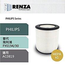PHILIPS 飛利浦【RENZA】濾網 適用 AC0819 空氣清淨機 奈米級HEPA濾芯 FY0194