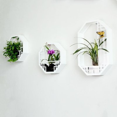 中式壁飾客廳背景家居裝飾品玄關掛件墻飾軟裝墻壁裝飾壁掛花盆