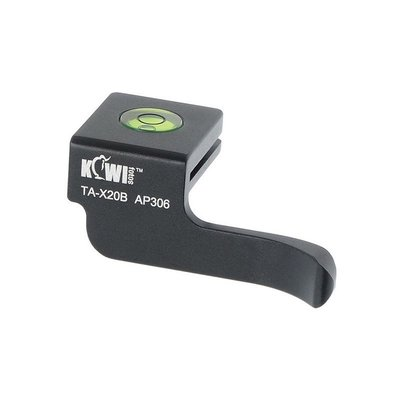 【傑米羅】Kiwifotos Fujifilm X10/X20 熱靴蓋拇指柄 TA-X20B (黑色)
