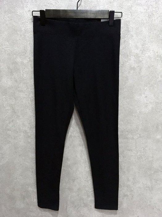 Maple麋鹿小舖 American Eagle * AE 黑色素面貼身款式內搭褲LEGGING * ( 現貨S號 )
