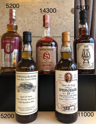 Springbank 25 Year Old Collection