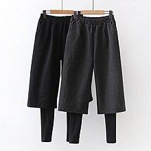 【60436】褲子  日系森女系假兩件毛呢九分褲。☆*藍荳荳小舖*☆(現貨)
