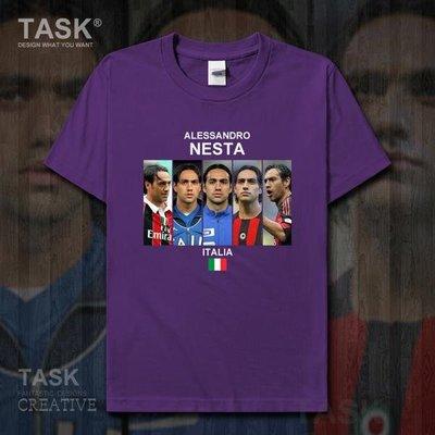 TASK 內斯塔AlessandroNesta意大利足球純棉短袖定制T恤男寬松夏季