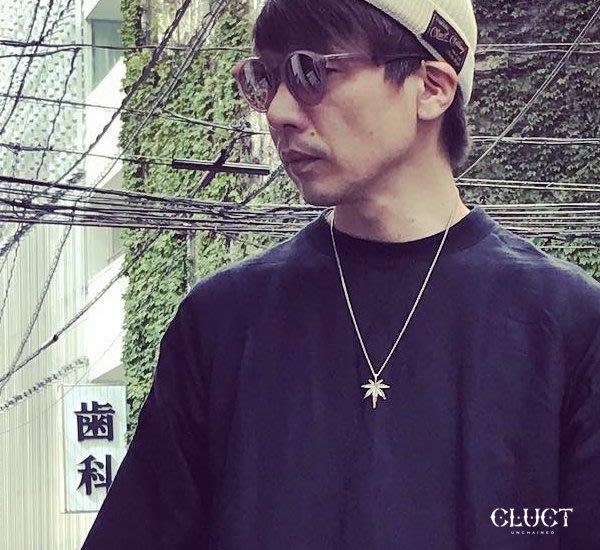 GOODFORIT / 日本Cluct ANTIQUE LEAF 黃銅混純銀異素材大麻葉項鍊