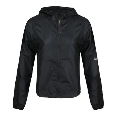 NIKE JACKET HD LTWGHT 防風外套 黑色 超薄款 慢跑 拉鍊袋 女 BV4941-010