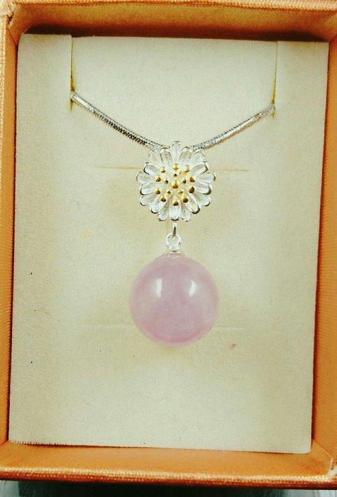 ~水晶花園~ Edelweiss帶來幸福的小白花~紫鋰輝石墜子(不含鍊子)(純銀)