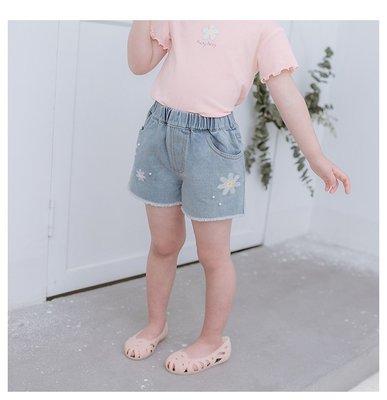 【Mr. Soar】 H461 夏季新款 韓國style童裝女童牛仔短褲 中大童 現貨