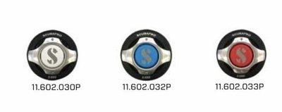 台灣潛水---SCUBAPRO S600 二級頭 彩色排氣鈕(白藍紅)