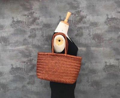 【全新正貨私家珍藏】比利時品牌Dragon Diffusion手工牛皮編織包((兩款))