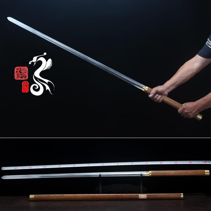 龍泉楊氏太極劍 軟劍 雙手唐劍 唐式雙手軟劍 男女武術劍 未開刃