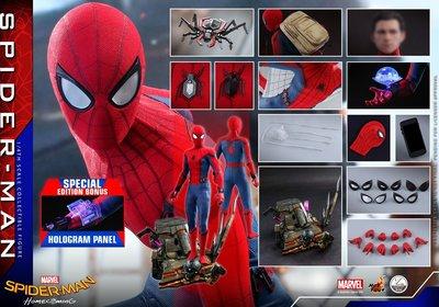 🚀[原價售會場版次日7/27 11:45am單]Hottoys 1:4 Spider-Man 蜘蛛俠 普通版 QS014B 連特別版配件 2019動漫節