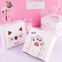 可愛貓頭貓爪包裝盒❤️ 月餅盒 包裝盒 餅乾盒 西點盒 蛋黃酥盒 紙盒 禮物盒 雪媚娘盒 手工皂盒 鳳梨酥盒 巧克力盒
