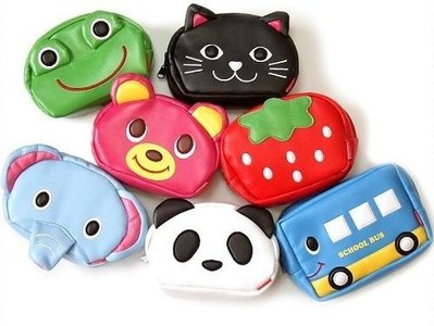 【批貨達人】熊熊皮革化妝包零錢包收納包