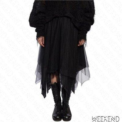 【WEEKEND】 MARC LE BIHAN Uneven Tulle 不對稱 三層 薄紗 裙子 長裙 紗裙 黑色
