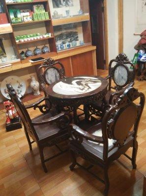 老酸枝家具照片一張-4椅1桌不單賣(議價)