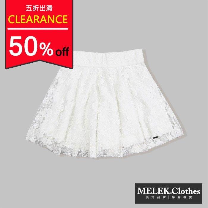 【HOLLISTER Co.】【HCO】【XS M 】HC女款蕾絲短裙白 F04140611-01