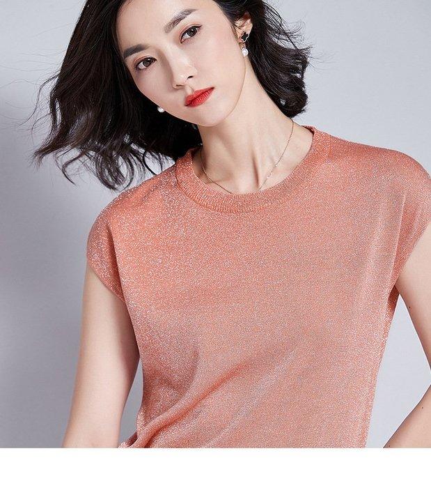 ✿ 吉米花 ✿ B-081357 圓領套頭時尚百搭上衣背心T恤 ( 豆沙粉 XL ) 全碼 現貨