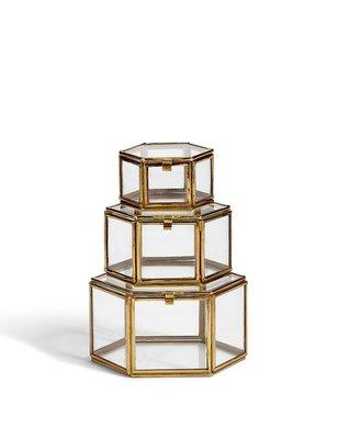檸檬黃 雜貨 Set of 3 Trinket Boxes 設置3飾品盒 $999 珠寶盒