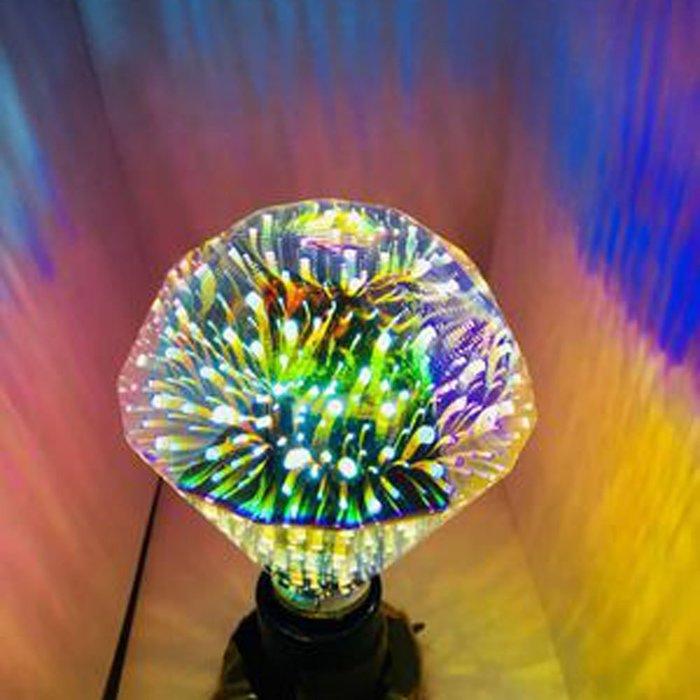 5Cgo【代購】設計師聖誕樹氣氛小夜店LED創意煙花烟火流星燈泡 G95平鑽立體藝術E27 3D十種造型 另十款燈座含稅