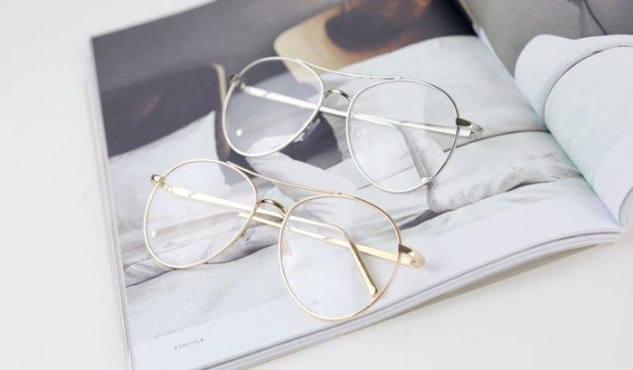 【NoComment】韓系時尚 質感簡約 復古式大金框眼鏡 ZARA H&M